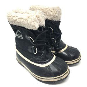 Sorel Black Winter Snow Outdoor Boots Kids 12